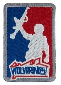 WOLVERINES Red white and Blue